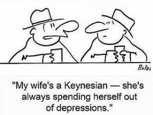 Keynesian-Wife-Spending-Herself-Out-of-Depression-300x226
